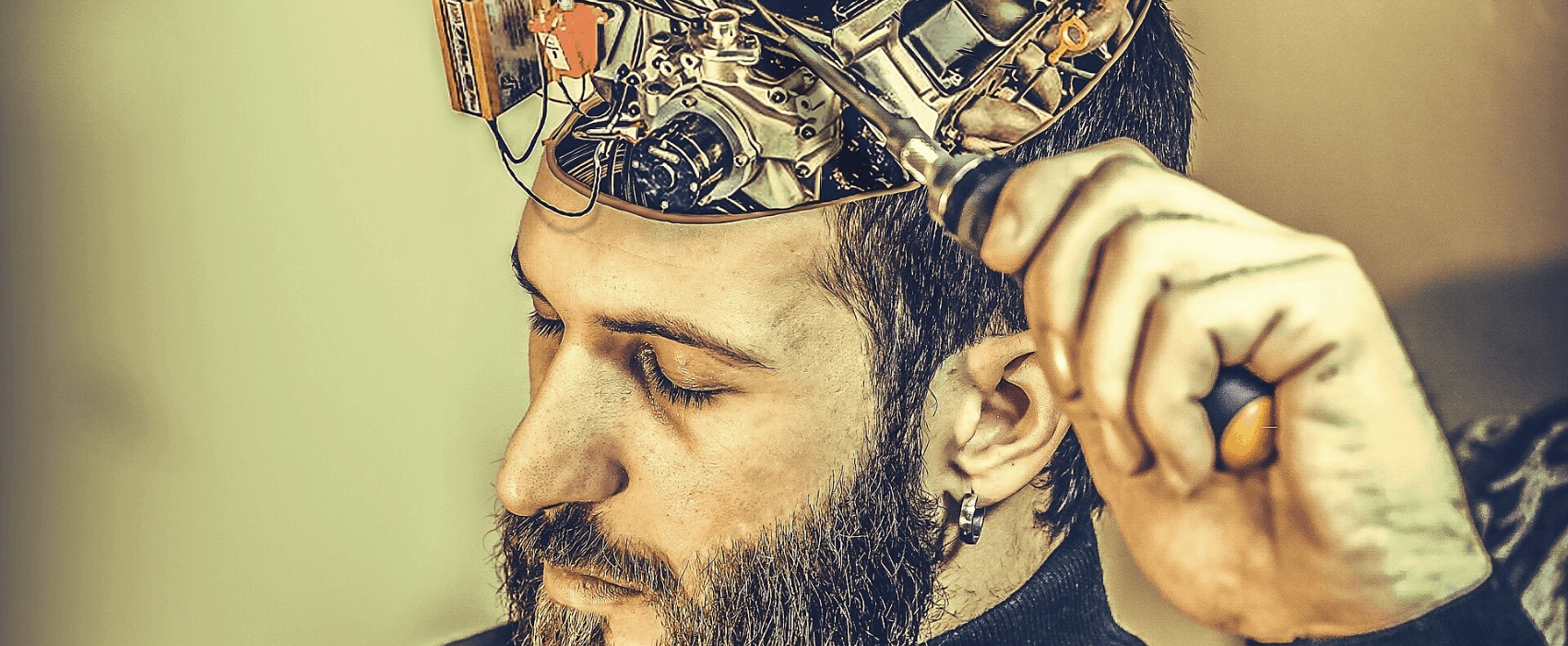 guy with open brain